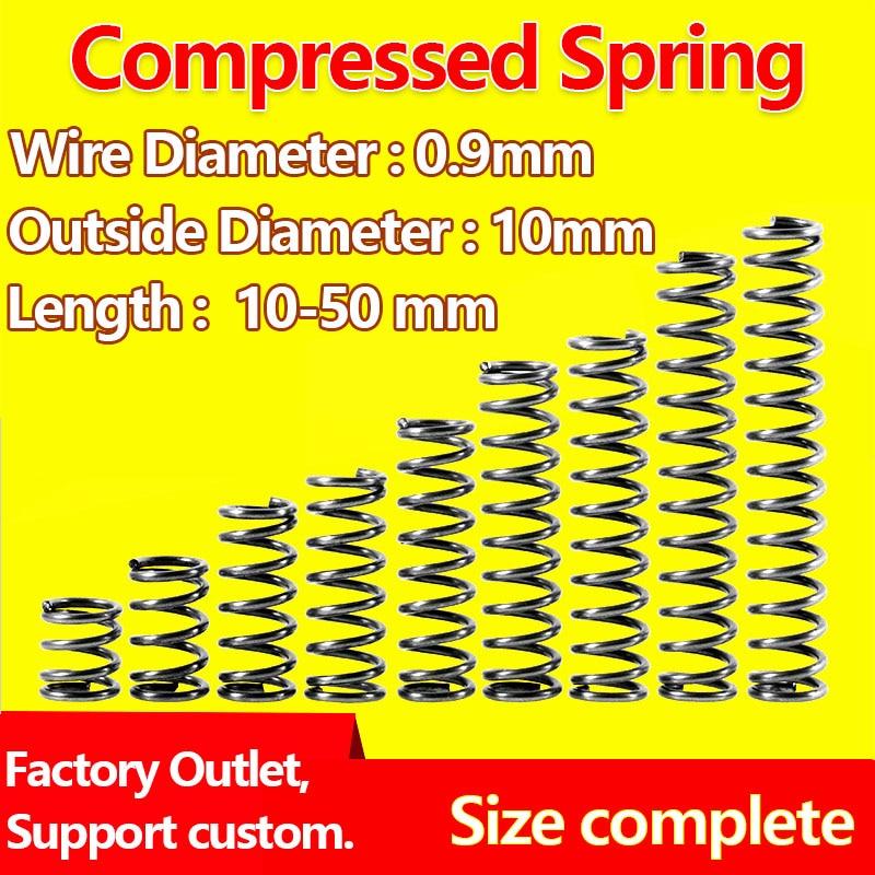 Сжатая пружина проволоки диаметром 0,9 мм, наружный диаметр 10 мм давление пружина возвратная пружина релиз пружина механическая пружина|Пружины|   | АлиЭкспресс
