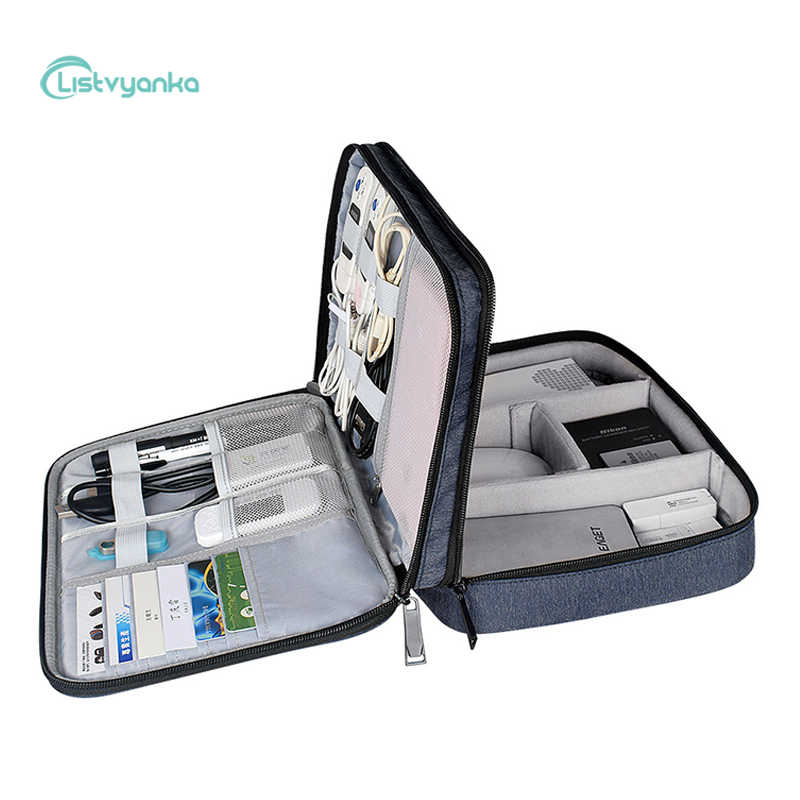 Reizen Kabel Organizer Bag Multi-Functie Kabel Tas Digitale Opbergtas Elektronische Bagage Organizer Charger Case Schede Handtas