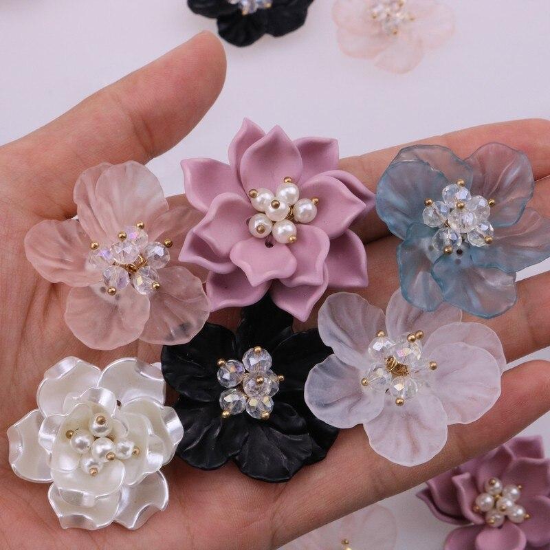 Акриловые розы, жемчуг, кристалл, лепесток, цветок, патчи для шитья, патчи для изготовления платьев, поделки своими руками