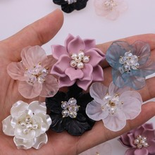 Patches Petal Dress-Making Diy-Craft Rose Crystal Sewing Flower-Floral Acrylic