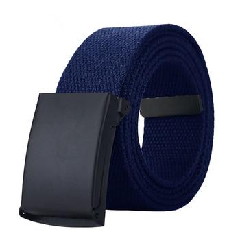 MaiKun Canvas Belts for Men Military Tactical Male Strap Metal Slider Buckle Men Belts for Jeans Pants
