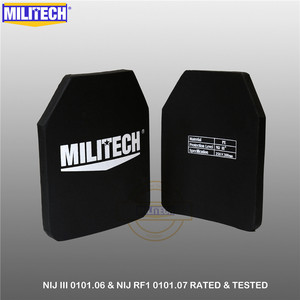 Image 3 - Kuloodporna płyta kuloodporna NIJ III + 0101.06/NIJ 0101.07 RF1 czysta PE 10x12 cali 2 szt. Kamizelka kuloodporna M80 i AK47 i M193 Militech