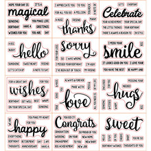 Magical Celebrate Words Clear Silicone Stamp for Scrapbooking DIY Album Decorative Card Making Template 3x4inch New 2019 4 pack trading card toploaders 3x4inch transparent