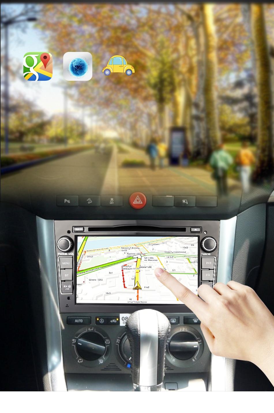Eunavi 7'' Android 9,0 Auto dvd-radio-player für opel Vauxhall Astra H G J Vectra Antara Zafira Corsa Vivaro meriva Veda 2din GPS