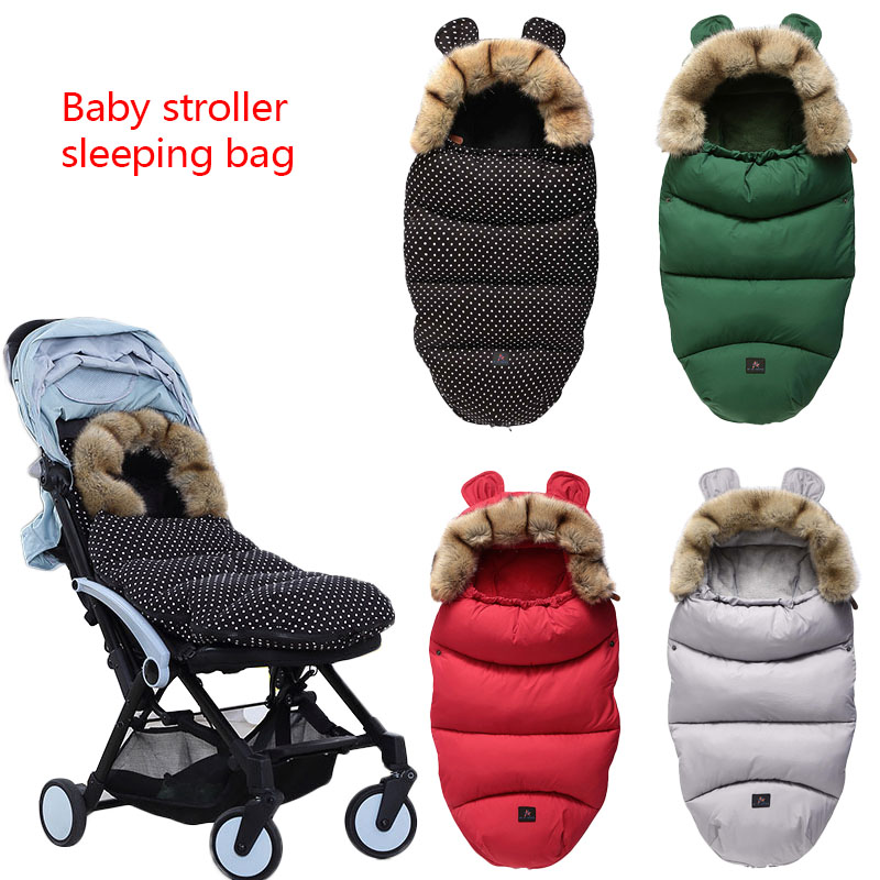 Baby Stroller Sleeping Bag Thick Warm Windproof Cover Bag For Baby Footmuff Newborn Sleepsacks Infant Blanket Swaddling Warp