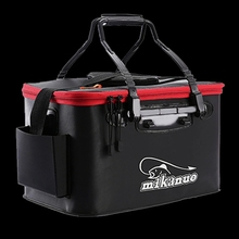 WALK FISH Portable EVA Fishing Bag Collapsible Fishing Bucket Live Fish Box Camping Water Container Pan Basin Tackle Storage Bag cheap CN(Origin) Multi-Purpose One-Layer WF124 Orange Black The Oxygen pump is not included