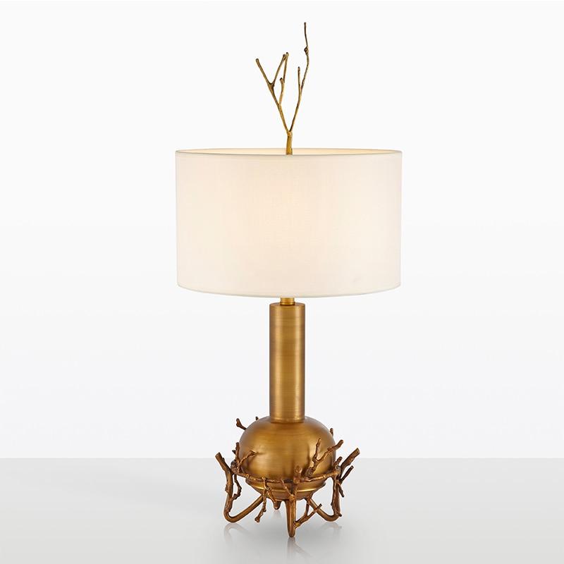 Nordic cobre lâmpada de mesa sala estar