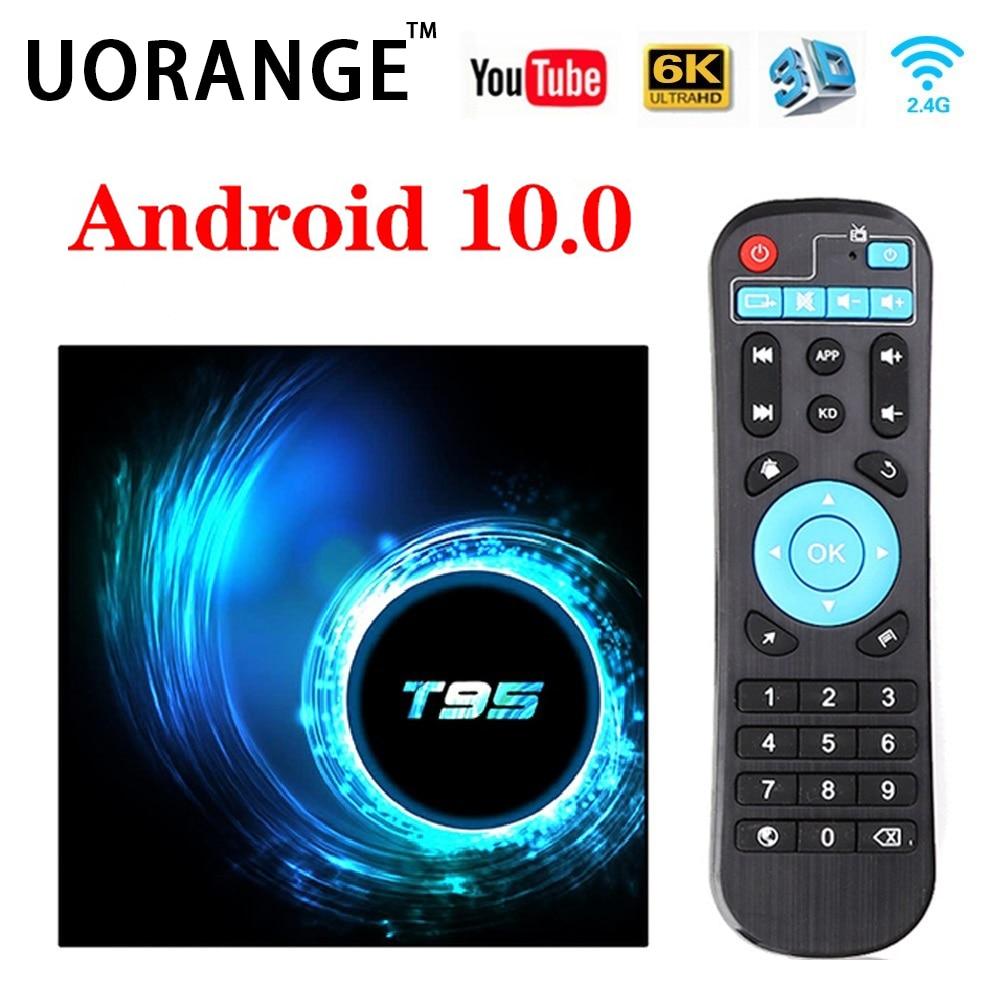 T95 2020 Android 10 TV Box Allwinner Quad Core WIFI IPTV Box 4GB 64GB OTT SetTopBox 6k Youtube Netflix Google Smart Media Player