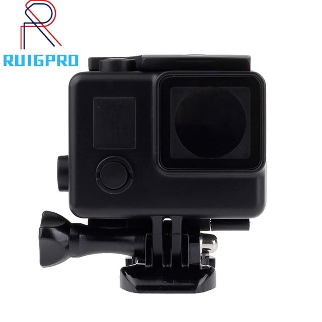أسود KingKong العلب مقاوم للماء الحال بالنسبة GoPro بطل 4 3 + أسود عمل الكاميرا تحت الماء العلب الحال بالنسبة الذهاب برو الملحقات