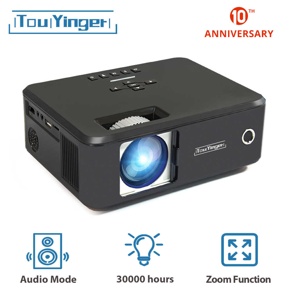 Touyinger X20 marka Mini projektör LED full hd 1080P video beamer taşınabilir ev sineması sinema lcd tv akıllı 3D film projektör