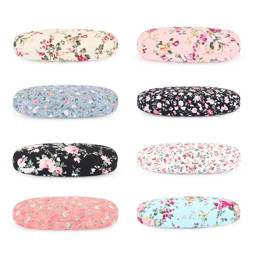 <font><b>Unisex</b></font> Portable <font><b>Glasses</b></font> Case Box Print Floral Spectacles Bags <font><b>Reading</b></font> <font><b>Glasses</b></font> Box Eyewear Protector Storage Eyeglasses Container image