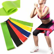 Win 5 Colors Elastic Rubber Resistance Bands Fitness Loop Yoga Pilates Home Gym Fitness Exercise Workout Training Pull Rope Expander wholesale