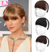 Neat-Fringe Headband Hairpieces Braids Blunt-Bangs Heat-Resistant Synthetic Women Liangmo
