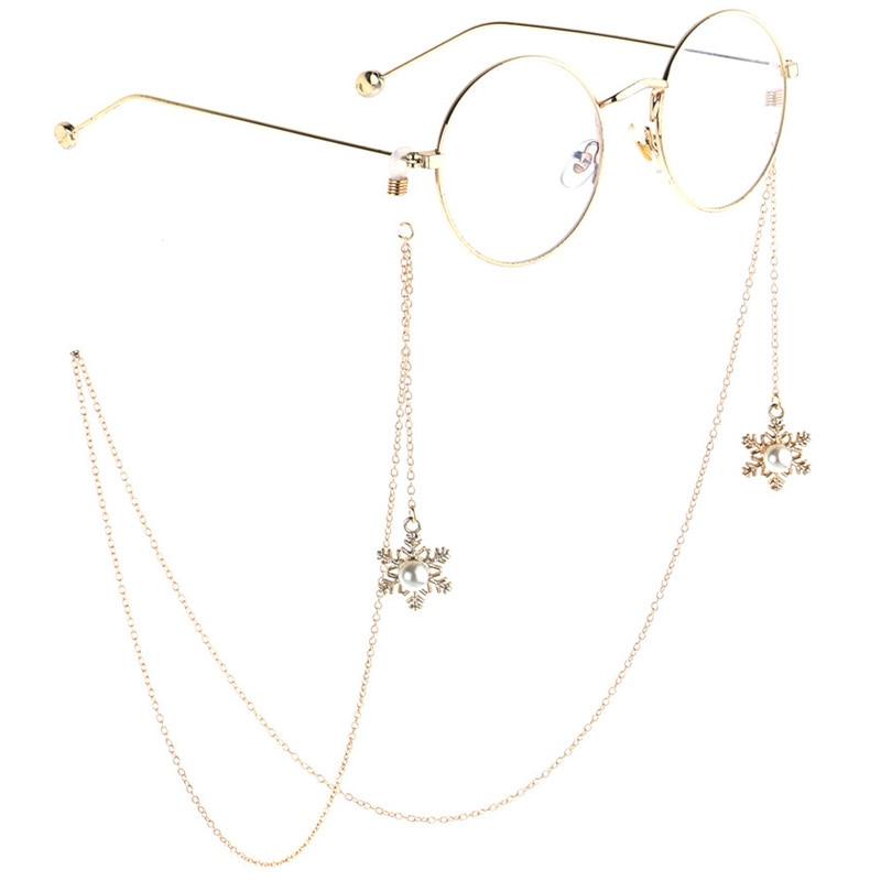 85cm Santa Claus Eyeglass Sunglasses Chains Reading Glasses Chain Metal Eyewears Cord Holder Christmas Design Neck Strap Rope