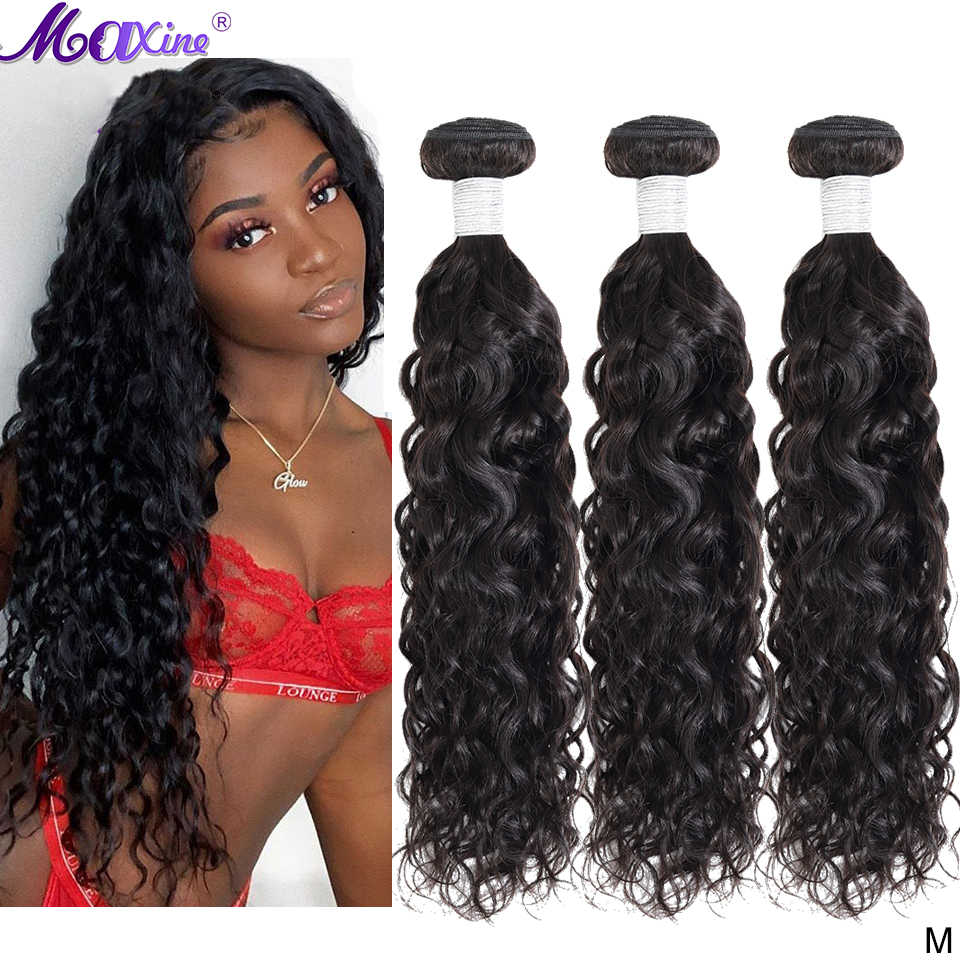 Water Wave Bundles Brazilian Hair Weave Bundles Deal Wet and Wavy Bundles Human Hair Extensions 30 inch Bundles  Maxine Non-Remy