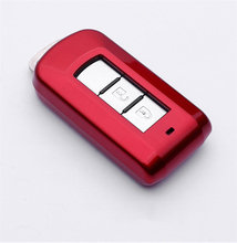 Car key case For Mitsubishi Outlander Lancer 10 Pajero Sport ASX paint key cover keychain keyring new Key case car key holder
