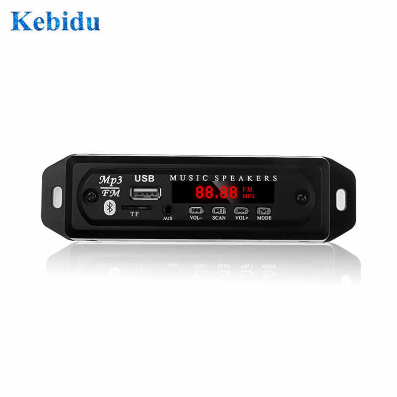 KEBIDU 5V 12V MP3 Decoder Board USB Power Supply TF Rádio Módulo De Áudio para o Rádio FM Do Carro Do Bluetooth mp3 Jogador