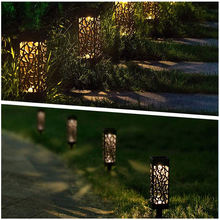 Газонное освещение на солнечной светильник сада украшения полые