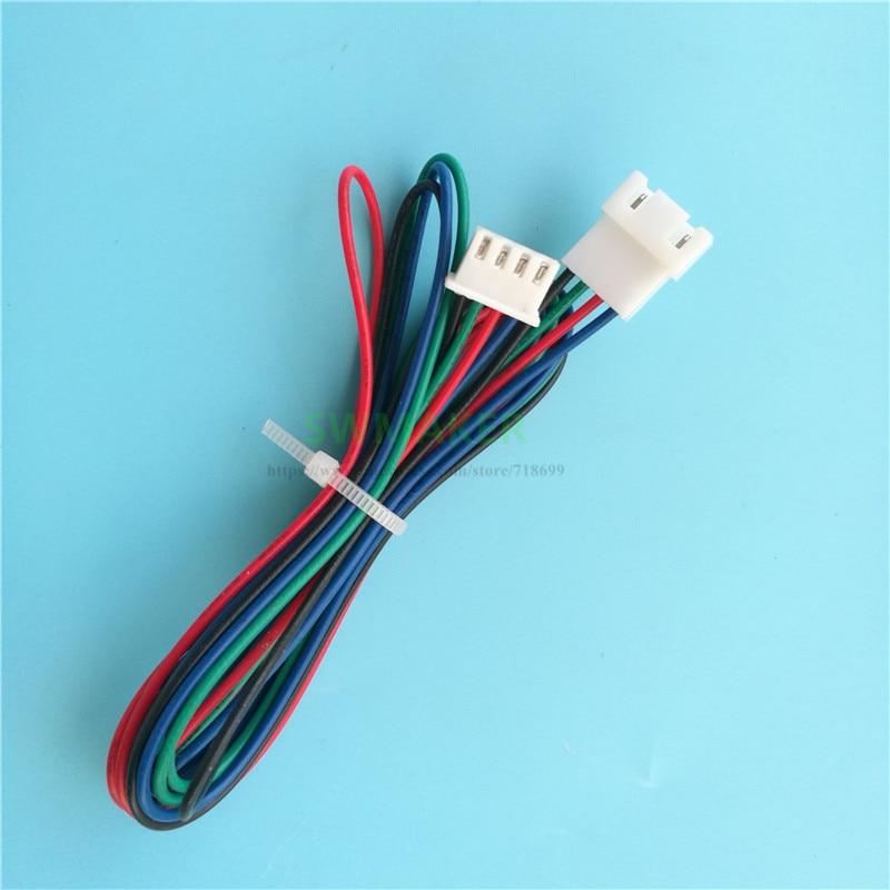 1pcs 3D Pinter Parts NEMA 17 Stepper Motor Extension Line XH2.54 4P Extension Cable, Male To Female Plug Connection Line 1Meter