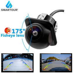 Smartour HD 175 Degree Fisheye Lens 1296*1080P Starlight Night Vision CVBS Front/Reverse Backup Camera For Android Car DVD Monit