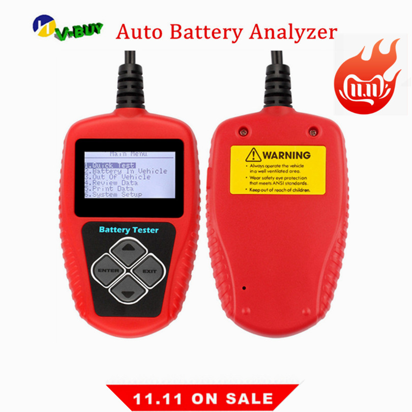 Car Battery Tester BA101 Diagnostic Tool 12V Digital Battery Tester 2000CCA With Multilingual With Accurate Result