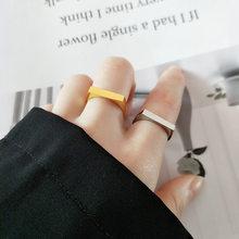 Bague ouverte en Argent Sterling 100% 925, anneau minimaliste, ondulé irrégulier, ouverture lisse, cadeau pour Femme