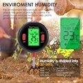 5-в-1 цифровой прибор для измерения уровня pH Измеритель влажности уровня PH Температура интенсивность солнечного света тестер влажности боль...