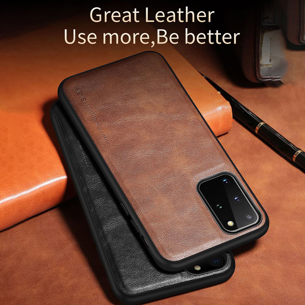 Business Soft Leather Case For Samsung S9 Plus S10 S10e Note9 Men Women Luxury Silicone Cover For Galaxy S20 Ultra S21 Coque