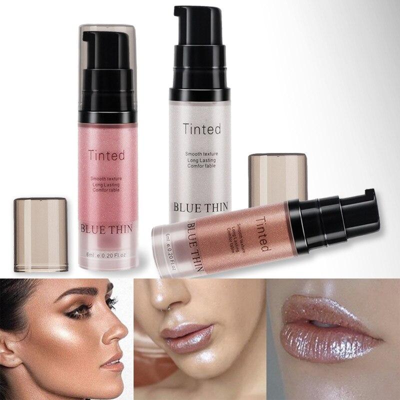 LUETHIN 3 Colors Liquid Foundation Makeup Lip Brighten Liquid Shimmer Eye Contour Fluorescence Liquid Waterproof Cosmetics PTCS
