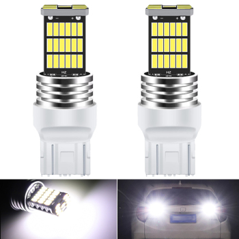 2X T20 W21/5W 7443 ba15s LED Bulbs Car Reverse Tail Lights Turn Signal White For BMW VW Mercedes Audi A3 8P A4 6B BMW E60 E90 image