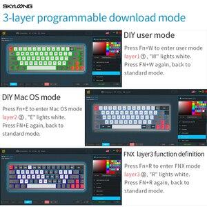 Image 5 - Skyloong SK68 pcbメカニカルキーボードワイヤレスbluetoothゲーミングキーボードホットスワップ可能なabsキーキャップ着脱式ケーブルのためのwin/mac版