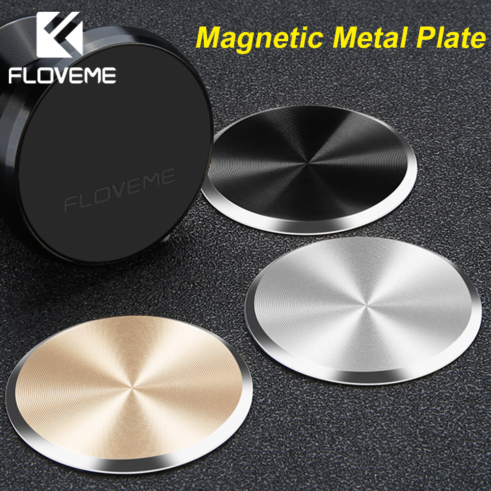 FLOVEME Metal Plate Magnetic Disk For Car Phone Holder Magnet Iron Sheets For Car Mount Phone Holder Stand Sticker Accessories