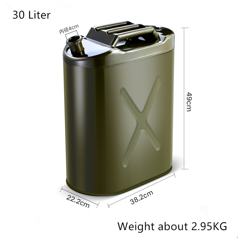 High Qualitly 30L Metal Tank For Gasoline Fuel Storage Container Useful Car Petrol Tool 0.6mm Thickness