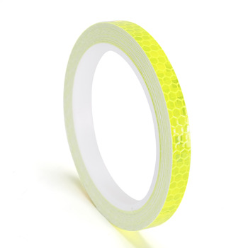 1cmx8m Bike Reflective Stickers Cycling Fluorescent Reflective Tape MTB Bicycle Adhesive Tape Safety Decor Sticker Accessories 10
