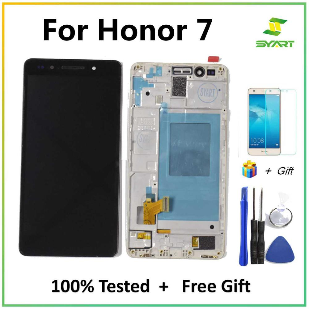 SYART For Huawei Honor 7 Screen LCD Display Touch Screen Digitizer For Honor7 Replacement Parts  LCDs With Glass