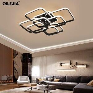 Image 3 - Современная Люстра для гостиной, спальни, AC85 265V, акриловая, алюминиевая, золотистая/белая/кофейная рамка, потолочные светильники