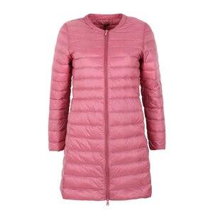 Image 1 - Marka NewBang dół kurtki kobiet długi, z kaczego puchu kurtki kobiety lekki ciepły Linner, szczupła, przenośna damskie płaszcze
