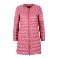 NewBang Chaqueta de plumón para mujer, chaqueta de plumón larga, ligera, cálida, delgada, portátil