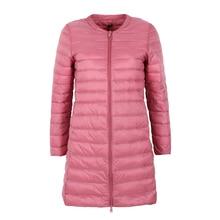 NewBang מותג למטה מעיל נשי ארוך ברווז למטה מעיל נשים קל משקל חם Linner Slim נייד גבירותיי מעילים