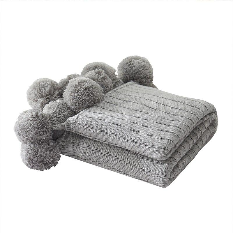 Motif de rayure de coton tricoté pour canapé-lit serviette couette femmes couverture pour emmailloter couvertures de sieste jeter la couverture pour le bureau de voiture