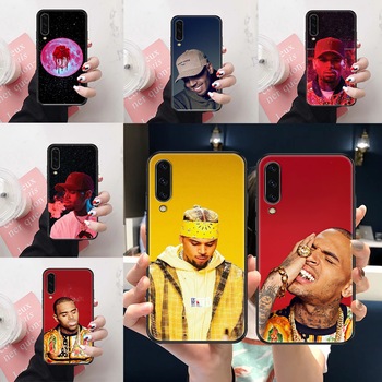 Singer Chris Brown Phone case For Samsung Galaxy A 3 5 7 8 10 20 21 30 40 50 51 70 71 E S 2016 2018 4G black luxury bumper art image