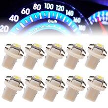 For Car Lighting 20pcs T5 B8.3D 5050 1SMD LED Dashboard Panel Dash Wedge Side Light Bulb 12V Super White 6000K Mayitr