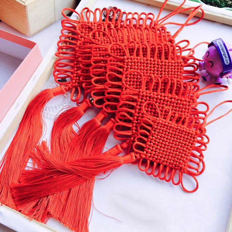 6 plate-24 plate pure handicraft knitting Chinese knot tassels fringe tassel trim decorative pendant tassel for home decoration