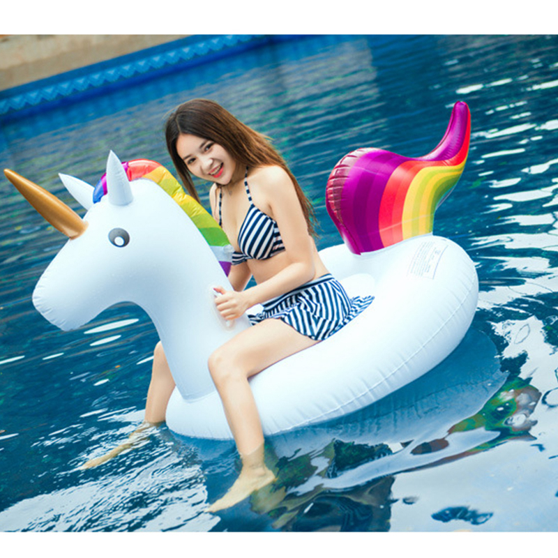 Unicorn Pool Float Mattress Swimming Circle Inflatable Lounger Adult Pool Toys Beach Swimming Air Mattress