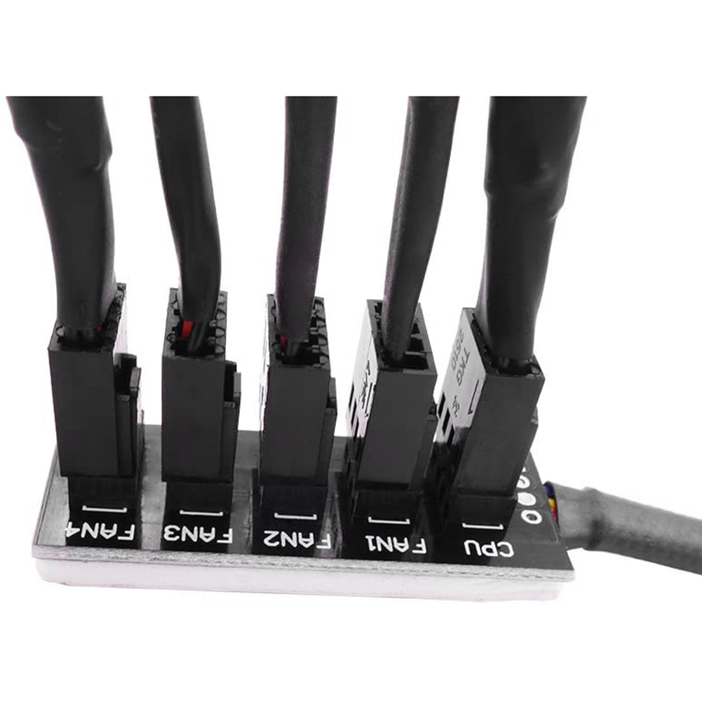 40cm 1 to 5 4-Pin/3-pin Molex TX4 PWM Fan CPU HUB Splitter PC Case Chassis Cooler Power Extension Cable Adapter Controller