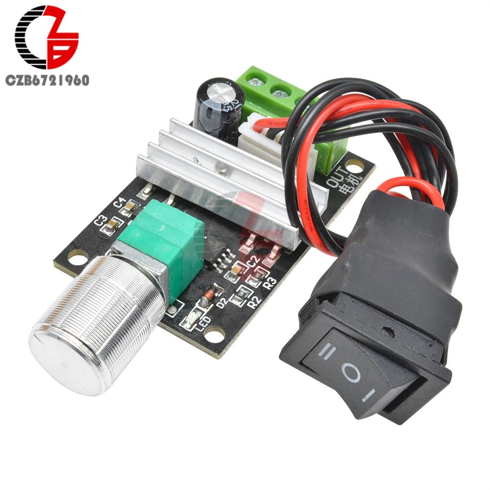 DC 12V 24V 3A 80W 1203BB DC Motor Speed Controller Adjustable PWM Speed Regulator Reversible Speed Control Switch 6V-28V