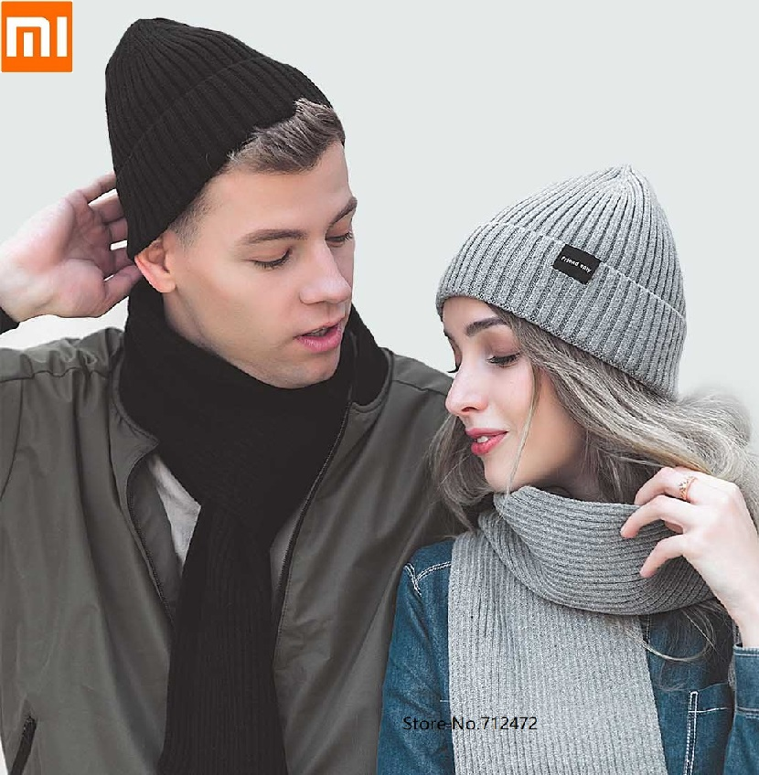 Xiaomi Fashion Warm Velvet Knit Hat Comfortable Women Winter Hat Knitting Beanies Hat Unisex Cap