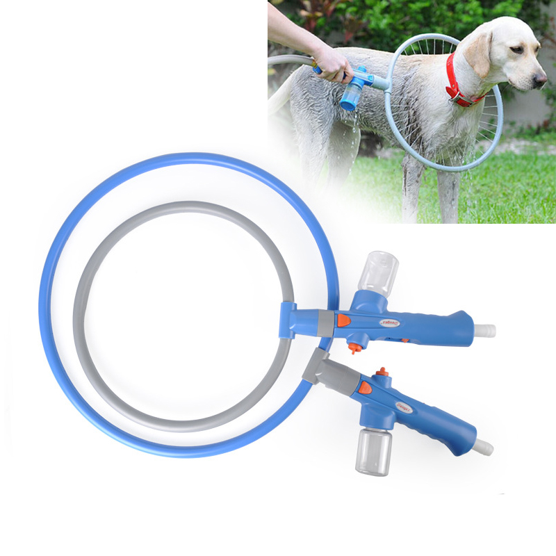 Dog Shower Sprayer 360 Degree Pet Bathing Ring, Multi-Directional Bath Artifact Automatic Cleaning Circle For Dog Pet Supplies