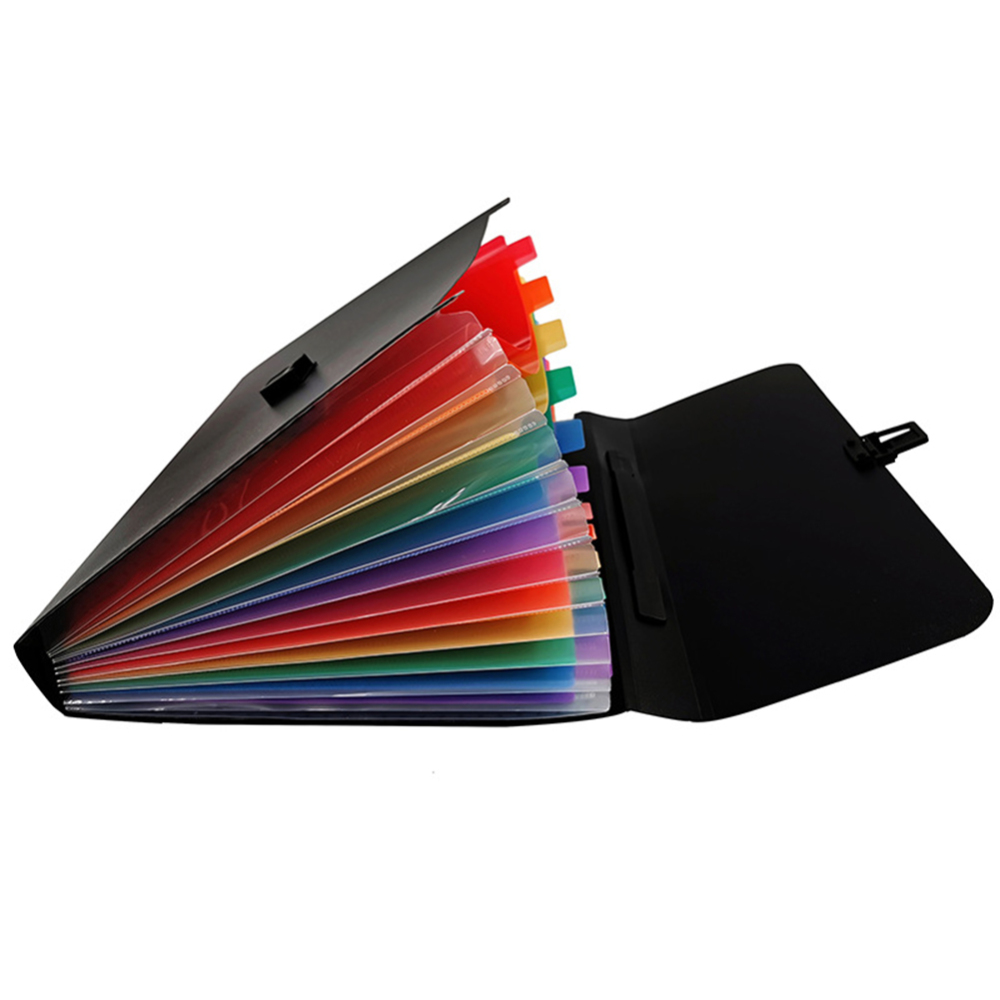 2 Pcs A4/A6 Size 13 Pockets Folders Portable Document Letter Holder Organizer Expanding File Organizer For Documents Bag