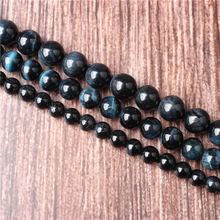 Hot Sale Natural Stone Blue Tiger Beads 15.5 Pick Size: 4 6 8 10 mm fit Diy Charms Beads Jewelry Making Accessories
